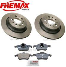 For Volvo S60 S80 V70 XC70 Set of 2 Rear Disc Brake Rotors w/ Pads