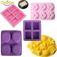 Silicone Soap Mold Fondant Chocolate Cake Candy Baking Tray Sugarcraft DIY Tools