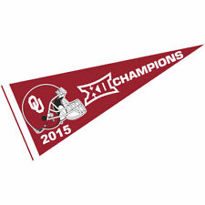 """Oklahoma Sooners Full Size 12"""" X 30"""" College Big 12 2015 Champs NCAA Pennant"""