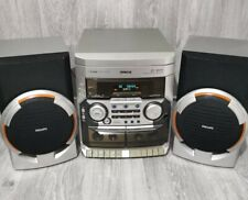 Philips FW-C155 Mini Hifi System 3 CD Changer Twin Tape Deck Tuner