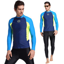 SBART Men's Long Sleeve Swimsuit Wetsuits Surfing Wet Suit Swim Shirt Rash Guard