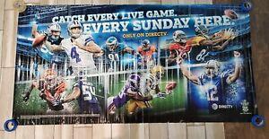 NFL Sunday Ticket HUGE Banner DAK PRESCOTT LUKE KUECHLY ANDREW LUCK DirecTV