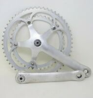 CAMPAGNOLO C-RECORD CRANKSET 170mm 53/41 VINTAGE 80s SQUARE TAPER DOUBLE OLD