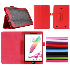 "7"" 8"" Leather Flip Case Protective Cover for LG G Pad V400 V480 V490 V525 Tablet"