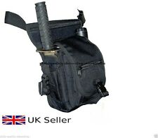 Metal Detecting Finds Bag, Drop Leg & Waist, Multi Pockets + 2 x Eyelets, Black.