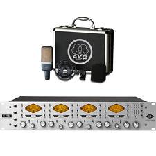 Universal Audio 4-710d 4-Channel Tone Blending Mic Preamp w/ AKG C214 Mic