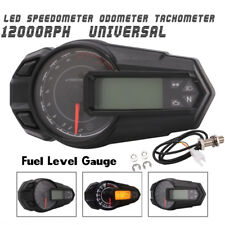 Waterproof Motorcycle Speedometer Odometer Tachometer Kmh With Sensor 12000 RPH