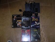 PLAYSTATION BUNDLE W/5 GAMES HITMAN TRILOGY,FROM RUSSIA WITH LOVE 007,KING KONG