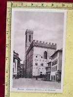 114# CARTOLINA POSTCARD FIRENZE PALAZZO PRETORIO SCROCCHI NON VIAGGIATA 1942