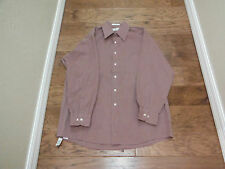 VAN HEUSEN BUTTON DOWN LIGHT BURGANDY SHIRT W/LONG SLEEVES ~ SIZE 16 X 32/33