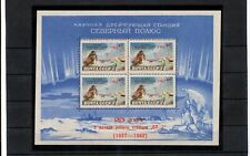 RUSSIA 1962 Antarctic Ship Polar Bear Sheet (ZA 227s
