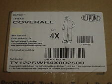 Dupont Tyvek Coverall Two (2) Hooded, Boots 4X Ty122Swh4X002500 6Ly42