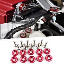 10pcs Red Password JDM Aluminum Alloy Fender Bumper Engine Dress Up Washers Kit