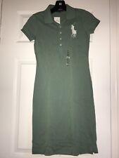 NWT Ralph Lauren Women Green Big Pony Polo Dress Slim Fit  Sz. XS