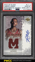 2003 UD Glass Monumental Marks LeBron James ROOKIE RC AUTO PATCH PSA 10 (PWCC)