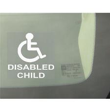 1 x figlio disabile-Auto, Furgone, Camion, Autobus Adesivo Finestra-segno disabilità, figlio, figlia