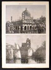 Palazzo di Giustizia, beejapoor-TOMBA DI RE Ibrahim 1871 Vittoriano incisioni