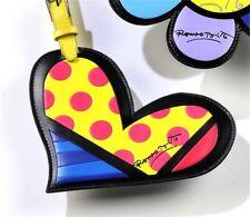 """Romero Britto Heart Design Luggage Tag 10"""" High"""
