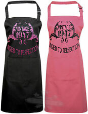 """Birthday apron gift celebration vintage year """"have any year"""" aged to perfection"""