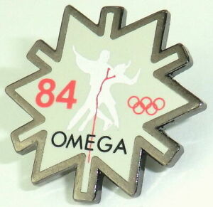 OMEGA PIN - Anstecker - 2006 Torino - Olympiade 1984 Rarität Sammlerstück