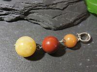 Hübscher 925 Silber Anhänger Clip Für Dicke Kette Collier Bunt Rot Orange Gelb