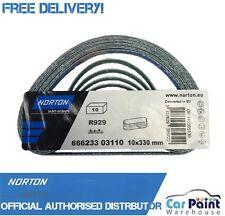 Norton Abrasives 10x330mm Sanding Belts Cermaic P40 Grit Zirconium 10pk R929