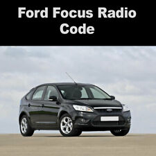Ford Focus Radio Code PIN Unlock Key Codes | All Years Covered Fast Service UK