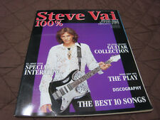 Steve Vai 100% Japan Book Frank Zappa David Ree Roth Whitesnake Ibanez Jem Guita