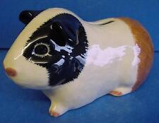 QUAIL CERAMIC TRICOLOUR GUINEA PIG MONEYBOX MONEY BOX PIGGY BANK ANIMAL FIGURE