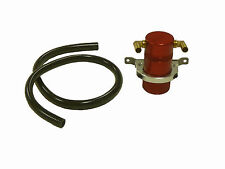 "OBX Air Oil Separator Universal Red 2.12"" Diameter , 4.0"" Height , 3/8"" Fitting"