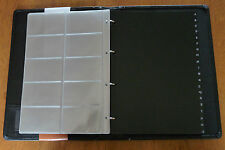 IMPALA BLACK LEATHERETTE BUSINESS CARD BINDER  NO. 487591    BRAND NEW