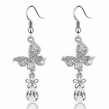 2 Carat Dangle Butterfly Earrings use Swarovski Crystal SE486