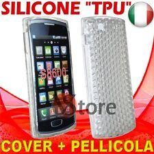 Cover Custodia Gel TPU Trasparente Per SAMSUNG Wave 3 S8600 silicone