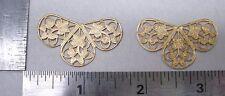 Raw Brass 3 petal Filigree Jewelry Stampings 1 dozen