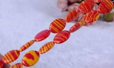 13x18MM Multicolor RED Turkey Turquoise Gemstone Flat Oval Loose Beads 15inch
