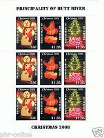 Principality of Hutt River 2008 Christmas SHEETLET MUH 3 sets CHRISTMAS LIGHTS