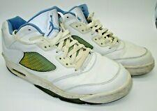 2006 Nike Air Jordan V 5 Retro Low  WMNS 13 = Mens 11 White / Blue 314337-141