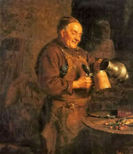 Oil painting eduard grutzner - the evening meal old man in kitchen no framed art