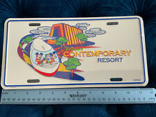 Vintage Metal License Plate Wdw Disney's Contemporary Resort New Sealed 1996