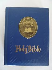 Freedom Edition Blue Large King James Version KJV Hardcover Holy Bible. Regency