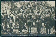 Militari Propaganda WW1 Trento Battisti ABRASA Foto cartolina XF8498
