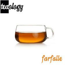 NEW! TEAOLOGY FARFALLE BOROSILICATE GLASS TEA CUP/COFFEE MUG - 6.75oz/200ml