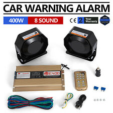 Can 400W 8 Sound Loud Car&Truck Warning Alarm Police Fire Siren MIC System Cool