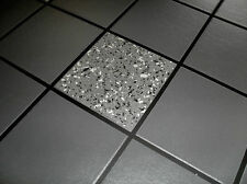 Granite Black Silver Glitter Tile Tiling Vinyl Bathroom Kitchen Wallpaper 89130