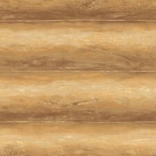 """Side To Side Hanging Toasty Brown 6.75"""" Log  Easy Walls Wallpaper LL51051"""