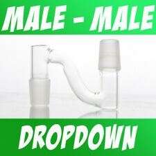 Scientific Lab Glass Dropdown Drop Down Adapter Male to Male 10mm 14mm 18mm