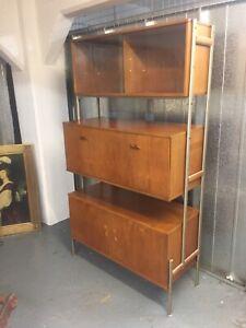 Rare Ladderax Style Danish Design Mid Century Vintage Retro Teak Shelving M4177