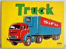 Vintage SIFO TRUCK PUZZLE Wooden Trucker 18 PC--Complete