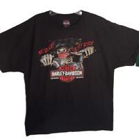 "Harley-Davidson Men's Black ""No Rules Just Ride"" Biker Bones shirt  XL"