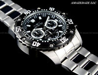 NEW Invicta Men's PRODIVER 48mm Stainless Steel Black Dial Chronograph Watch !!